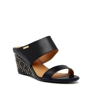Calvin Klein Phyllis Studded Wedge Sandals